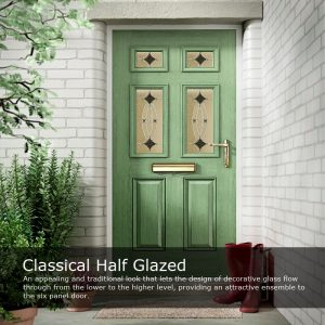 Classical Half Glazed Composite Door