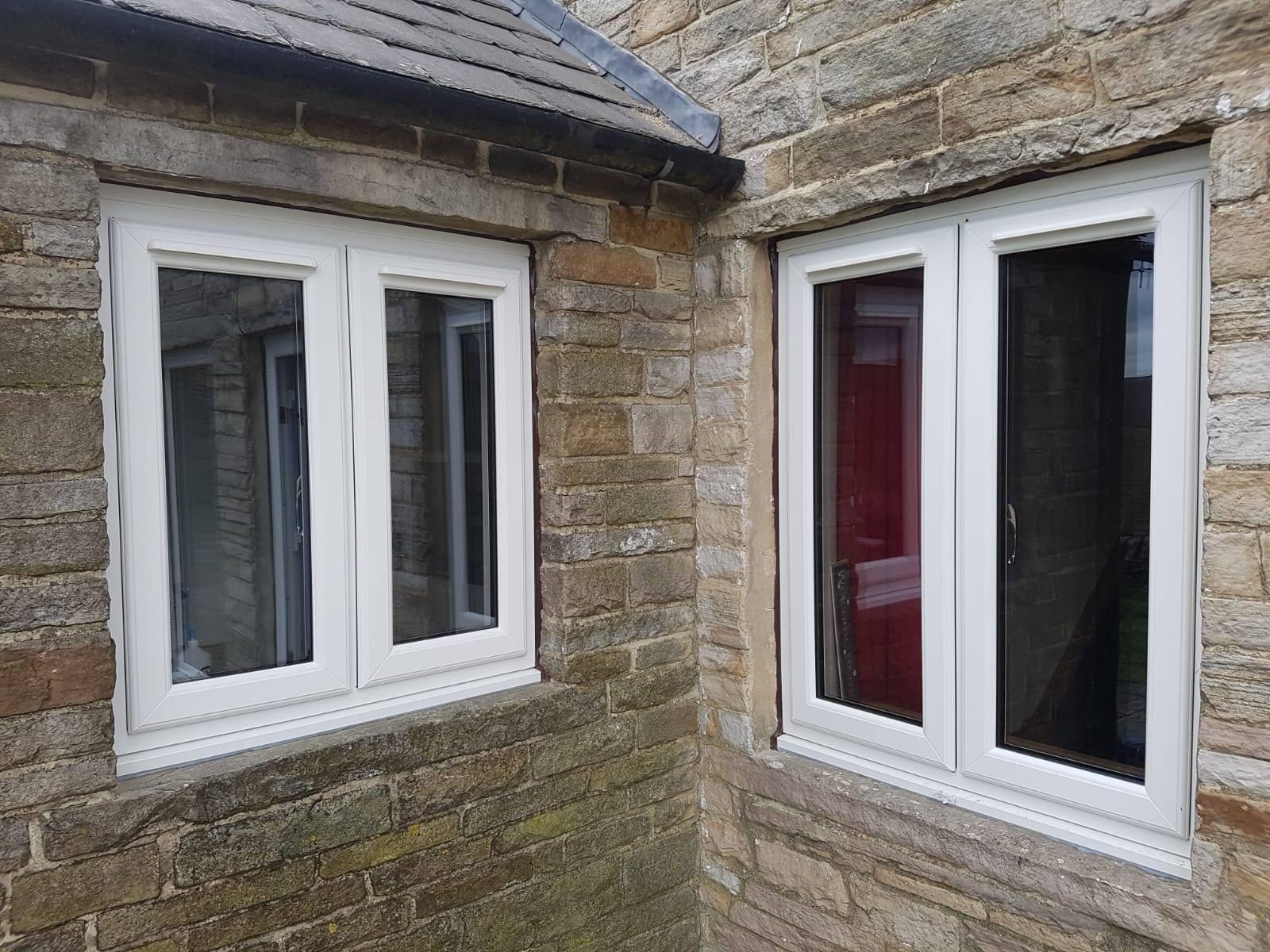 2 WHITE UPVC WINDOWS INSTALLED