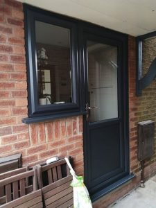 ANTHRACITE GREY BACK DOOR AND SIDE WINDOW