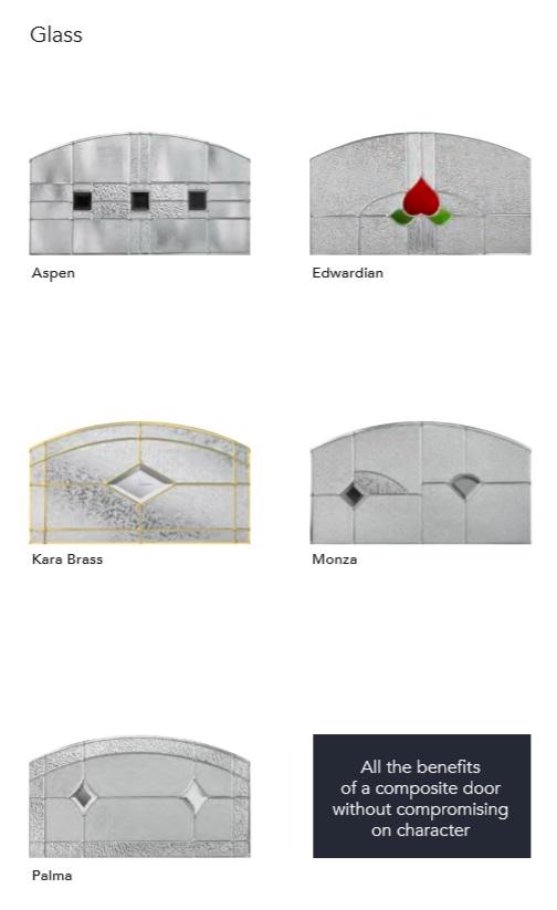 CRAFTSMAN COMPOSITE DOOR STOKE-ON-TRENT GLASS DESIGNS