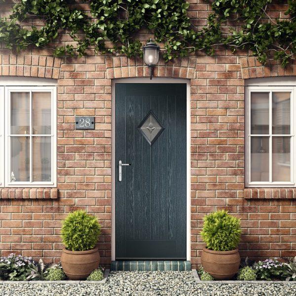 Diamond-rustic-Renown composite door Stoke-on-Trent