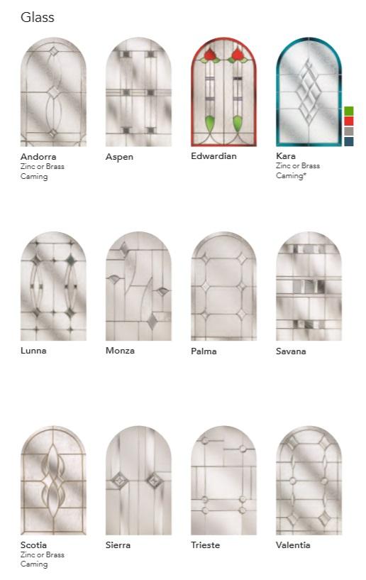 RUSTIC RENOWN DIAMOND COMPOSITE DOOR GLASS DESIGNS