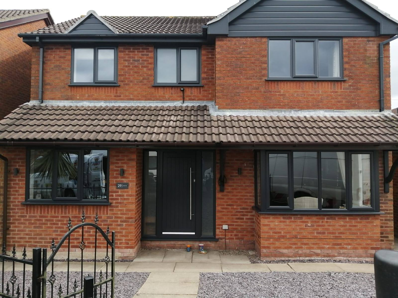 FULL HOUSE ANTHRACITE GREY WINDOWS AND COMPOSITE DOOR