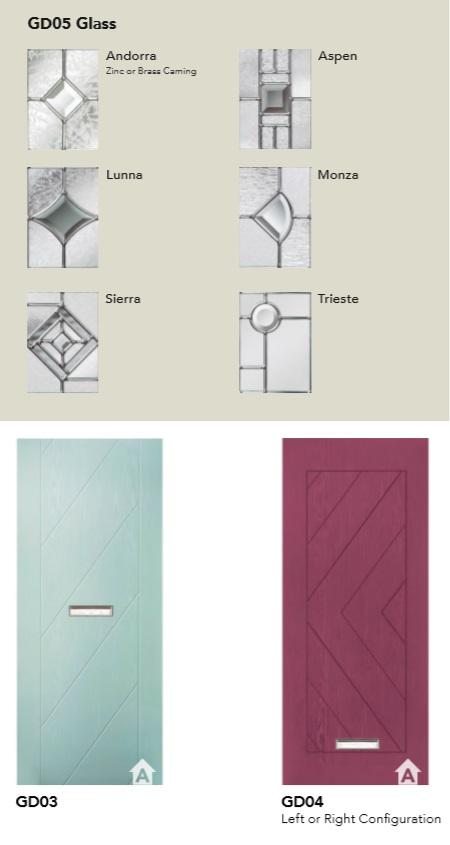 NEW INFINITY RANGE COMPOSITE DOOR GLASS DESIGNS PAGE 2