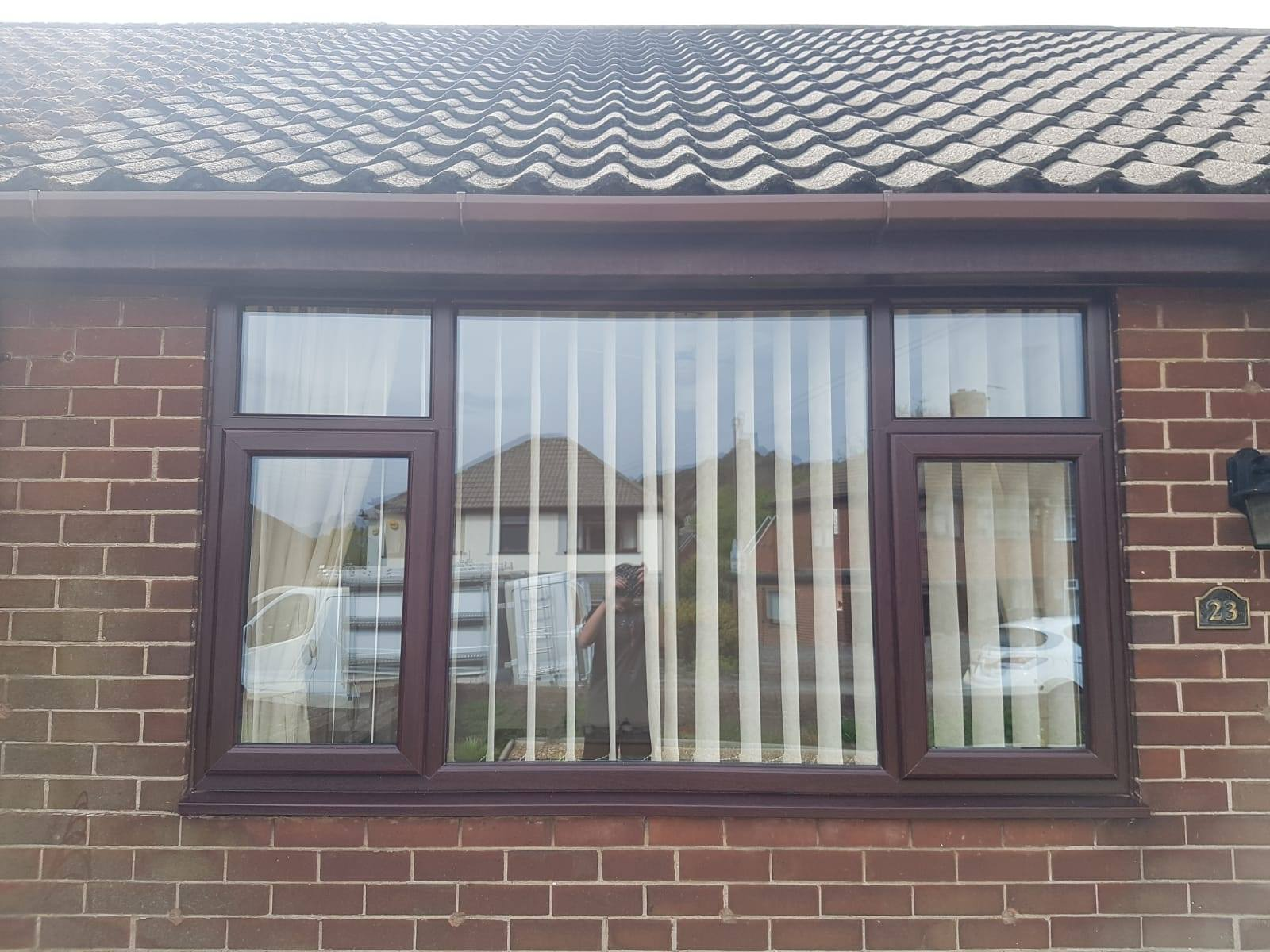 ROSEWOOD UPVC WINDOW INSTALLED