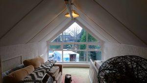 SHAPED LOFT WINDOW IN WHITE UPVC