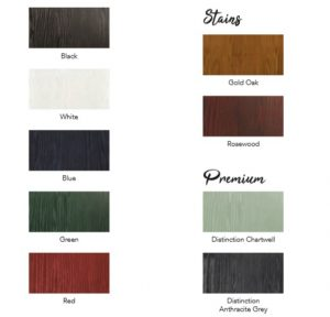 STANDARD COMPOSITE DOOR COLOUR RANGE
