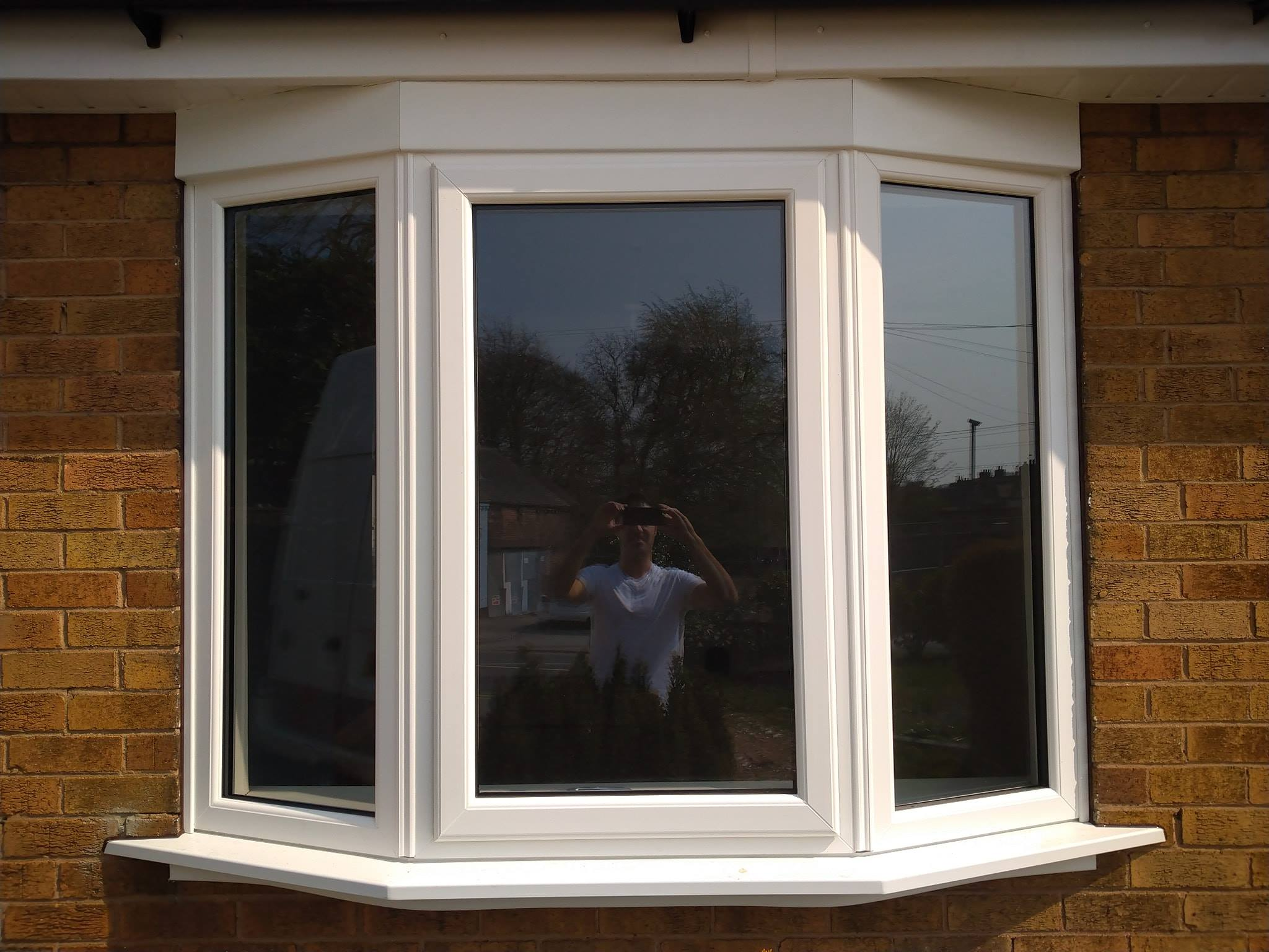 WHITE UPVC BAY WINDOW INSTALLED