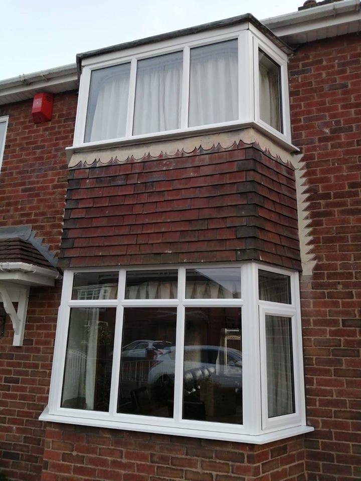WHITE UPVC WINDOW BAYS INSTALLED
