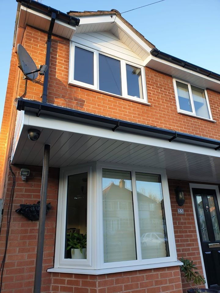 WHITE WINDOWS, SOFFIT AND COMPOSITE DOOR